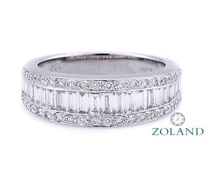 Baguette and round diamonds wedding band #diamond #ring