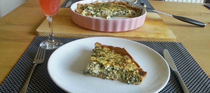 Spanakopita - quiche met spinazie en feta
