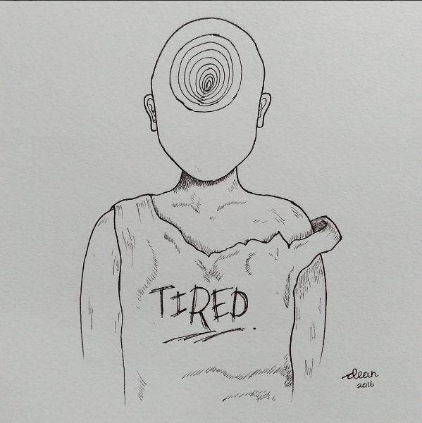 Illustration - Tired