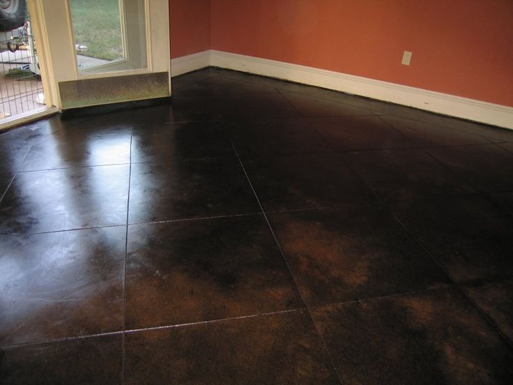 Dark Stained Concrete Floor Concrete Dallas Fort Worth