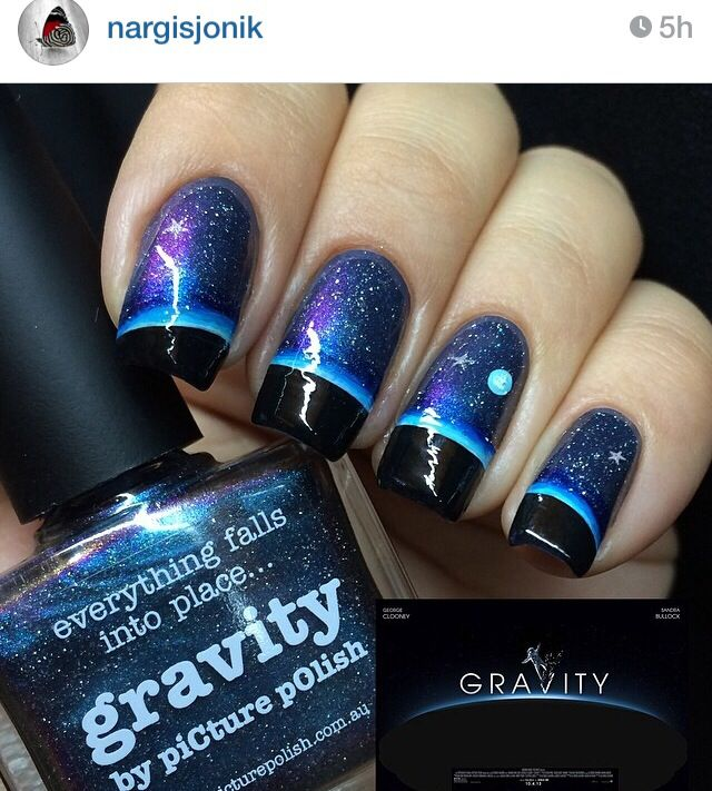Gravity outer space galaxy nails