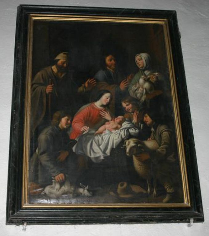 """Pontgibaud - """"The Adoration of the Shepherds"""" by François Guy - 1646 - Current localistaion : Saint-Benoit Church of Pontgibaud"""