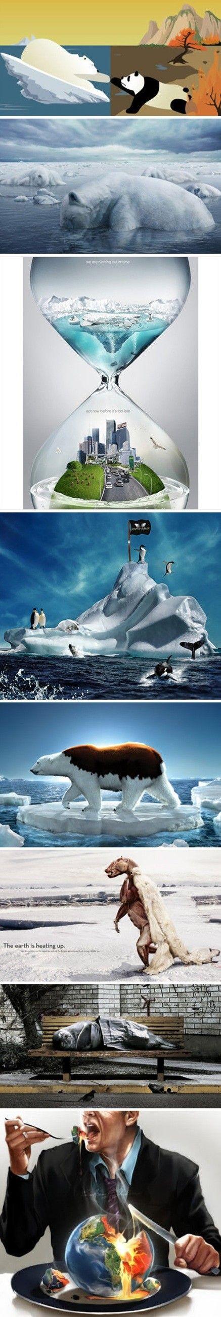 7 anuncios creativos sobre el calentamiento global