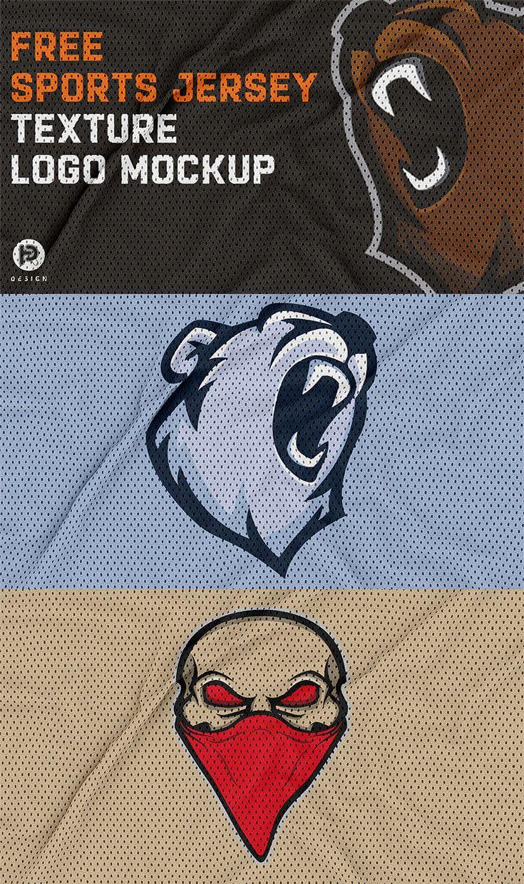 Download Free Jersey Texture Logo Mockup Logo Mockup Mockup Logos