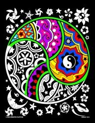 Yin Yang - 16x20 Inch Coloring Poster / One of our favorite designs and most popular designs. Put your own creative flair on this fuzzy poster as traditional symbol meets new artistic poster.
