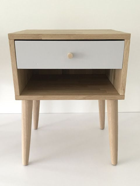 Our self made nightstands are finished! Follow the link to see how we made it. Diy nightstands, bedside table, oak, woodwork, scandinavian