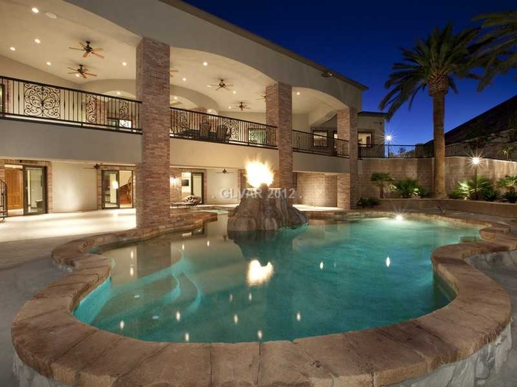 158 best las vegas pool homes images on pinterest square for Average square footage of a pool