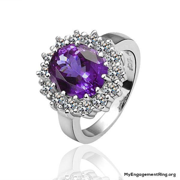 beautiful purple diamond engagement ring - My Engagement Ring