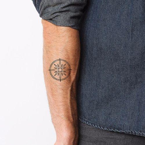 Simple compass tattoo google search tattoo ideas for Minimalist tattoo ideas for guys