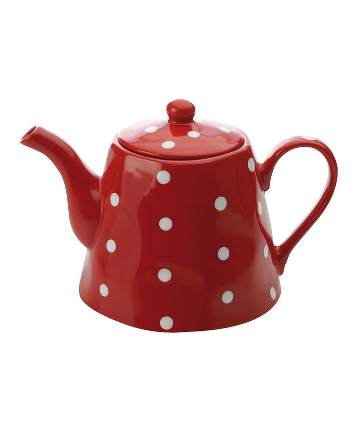 Red Sprinkle #Teapot by Maxwell & Williams on #zulily
