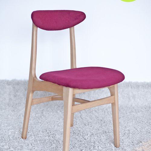 Krzesło tapicerowane PRL lata '70 vintage | 410,00zł