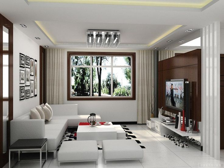White Living Room Decor Ideas With Modular White Fabric L Shaped Sofa On  The White Tiles