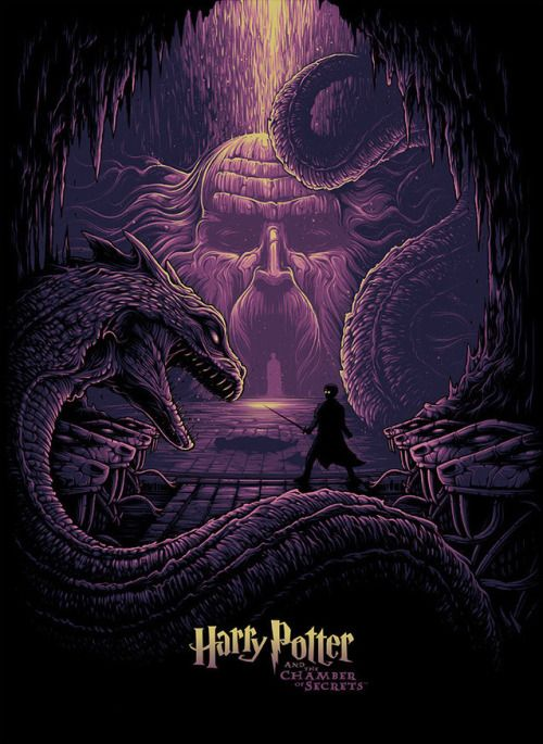 """kogaionon: """" Harry Potter and the Eyes of the Basilisk by Dan Mumford / Behance / Facebook / Twitter / Instagram / Store 18"""" x 24"""" lithograph print on 100-lb satin-finish paper. Available here. """""""