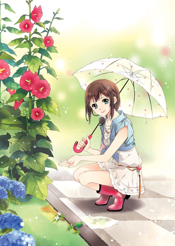 Image result for anime chinese with white umbrella