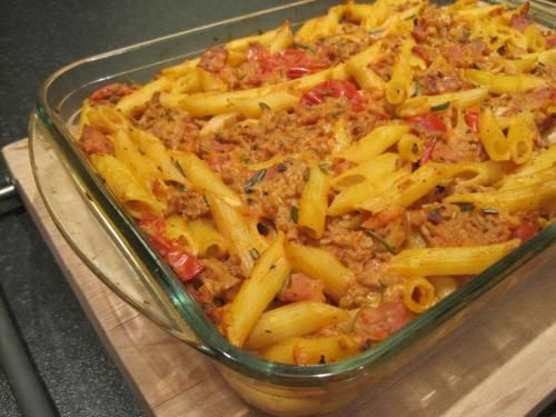Pork & Rosemary Pasta Bake - 2.5 #Syns per serving if you use parmesan in it - holds together well, great cold for lunch