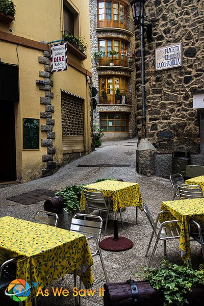 The medieval center of Andorra la Vella, a capital city high in the Pyrenees