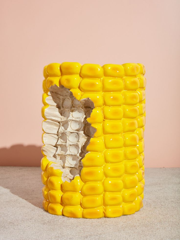 Corn Stool – Coming Soon Weird Furniture, Unique Furniture, Home Decor Furniture, Furniture Showroom, Outdoor Furniture, Claes Oldenburg, Jeff Koons, Corn On Cob, Aesthetic Room Decor