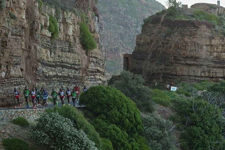 David #Barmasai #Tumo for @Cara Pratten @AdidasZA @Heidi Smith @Craig Fry #OMTOM2014 Astounding - this man EATS hills!!! CAPE TOWN, South Africa - Saturday 19 April 2014, Chapmans Peak during the ultra marathon of the Old Mutual Two Oceans Marathon.  Phot...