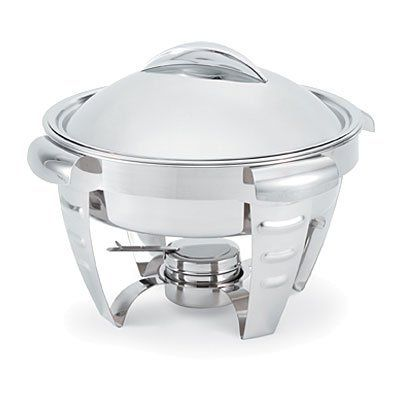 Vollrath Maximillian Steel Large Round Chafer 6 Quart by Vollrath. $123.75. Capacity = 6 qt = 1-1/2 gal. Construction = stainless steel. Shape = round. Heat = canned. Vollrath Maximillian Steel Large Round Chafer, 6 Quart -- 1 each.