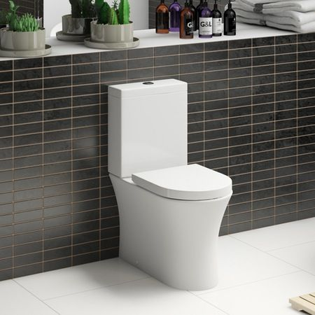Mode Hardy close coupled toilet inc soft close seat | VictoriaPlum.com