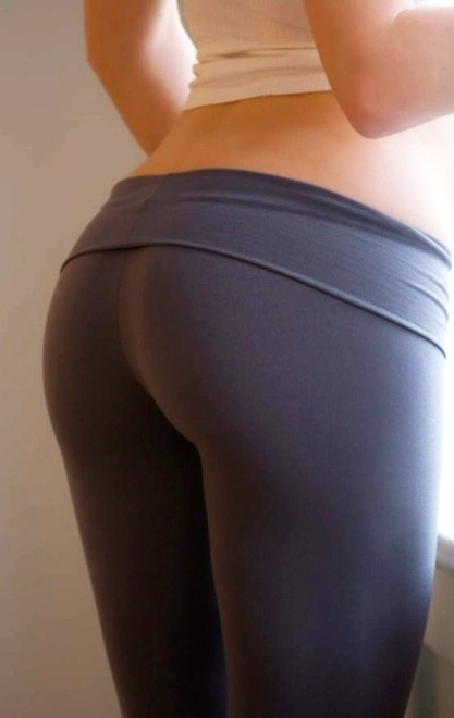 the perfect butt and yes the dreaded yoga pants ick ...