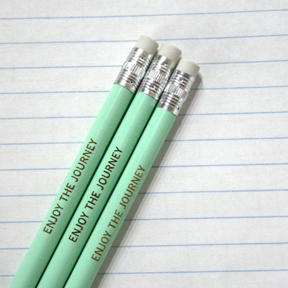 enjoy the journey engraved pencil set of by thecarboncrusader #shopumbabox #handmade