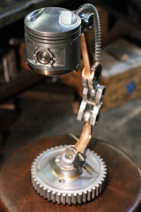 Industrielle Desk Lamp Motorradteile Zündschalter von AZCustomFab