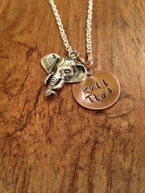 Alabama Roll Tide necklace by kimsjewelry on Etsy, $18.00