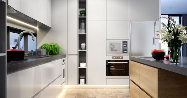 Just liked this Pin: Kitchen design | LED strip | timber flooring | grey | interior design | home lighting http://ift.tt/2jJl5QD