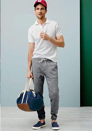 【夏】白ポロシャツ×サックスブルーパンツの着こなし(メンズ) | Italy Web