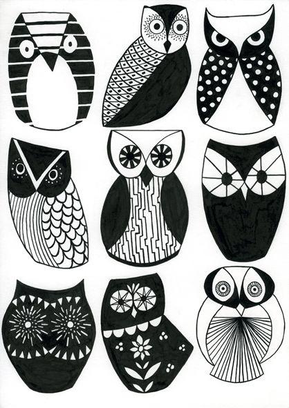 Sharon Elphick - Optical Owls