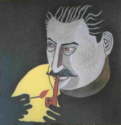 Stuckism Philip Absolon - stalin