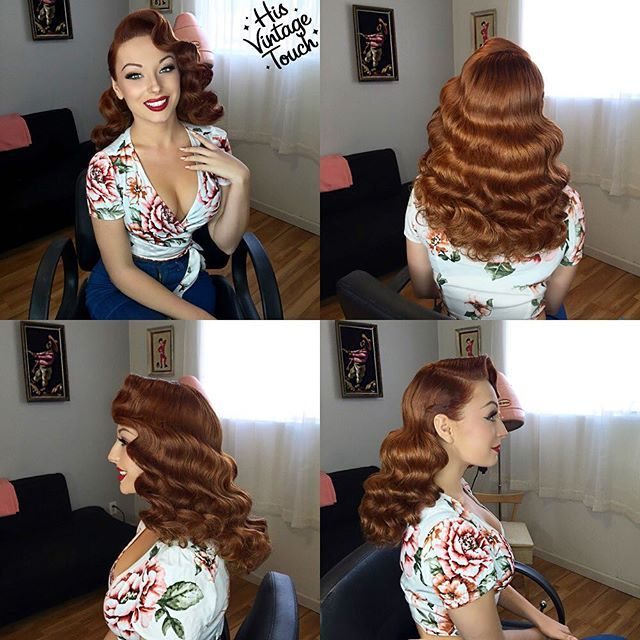 Here's this full look on the gorgeous @PinupPalmer!  Laid and Sprayed with @suavecitapomade's #GroomingSpray and #Pomade! Hair By #HisVintageTouch