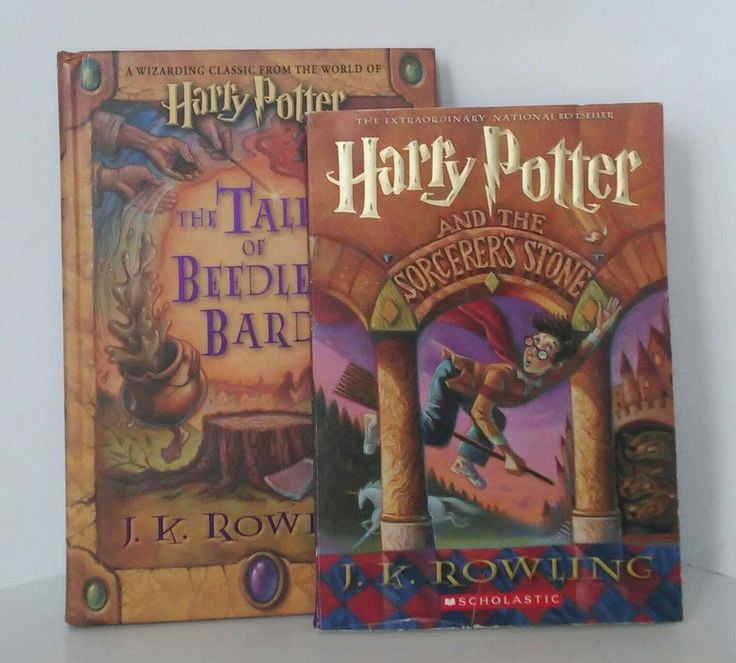 Set of 2 books. Harry Potter and the Sorcerer's Stone paperback & The Tales of Beedle the Bard hardcover, first American Edition. | eBay!
