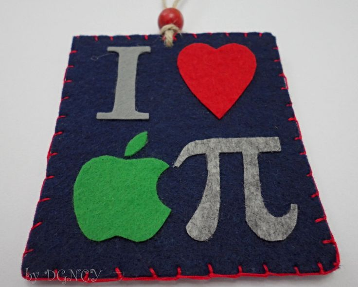 Felt Pi Day Wall Hanging,Pi Day Ornament,Pi Day Symbol,Felt Accessories by DGNCY on Etsy