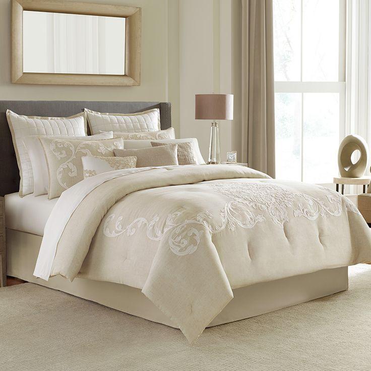 Manor Hill Verona Complete Bedding Set. #BeddingStyle #bedroom #bedding  #neutral