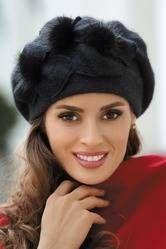 Kamea Elena beret (08) Nakrycia głowy czapka