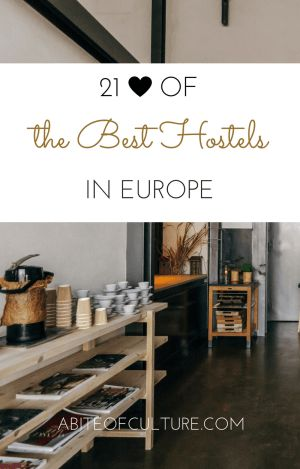 21 of the best hostels in Europe; whether you're headed on a Eurotrip, study abroad, or just traveling Europe on a budget, this list will help you find the best hostels along the way. Budget travel is not easy, but staying in a hostel sure helps!