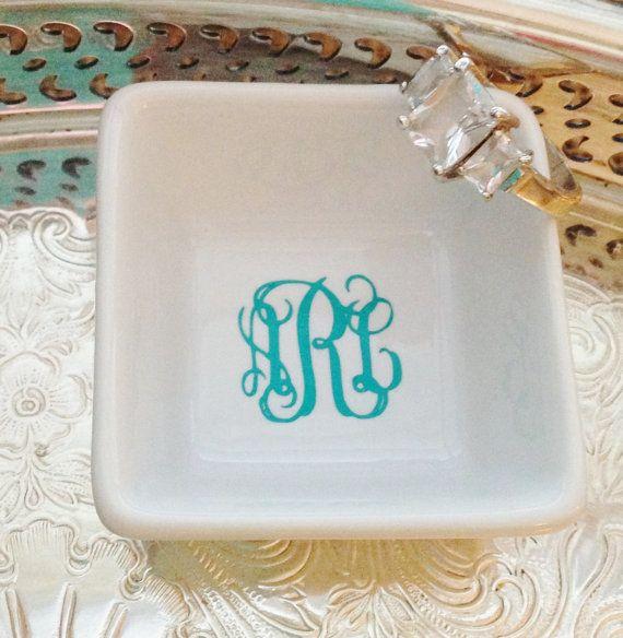 Petite Monogrammed Ring Dish