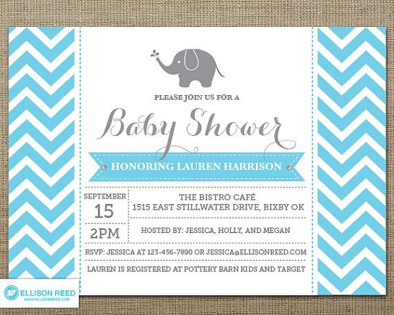 baby elephant girl baby showers boy shower printable invitations baby