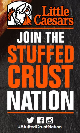 Little Caesar's Stuffed Crust Nation Sweepstakes Ends 12/31. Win a year of FREE pizza or other pizza gift cards. http://www.freebiequeen13.net/little-caesars-sweepstakes.html
