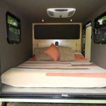 The Flyer is the longest and tallest of our Adventure Teardrops. This lightweight camping trailer sports a floor to ceiling front cabinet for storing your essentials. Included is a 30″ wide and 78″ long sofa base that makes into a queen size bed along with a 36″ deep galley drawer. Contact us for pricing info. https://teardropsbyvrv.com/how-to-buy/