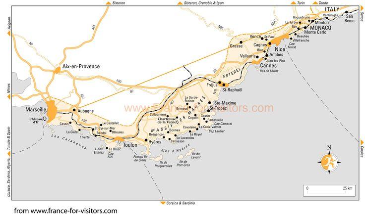 Cote D Azur France Maps Of The Cote D Azur Map Of The Cote D