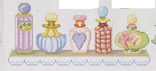 point de croix parfums pastel - cross stitch pastel perfumes