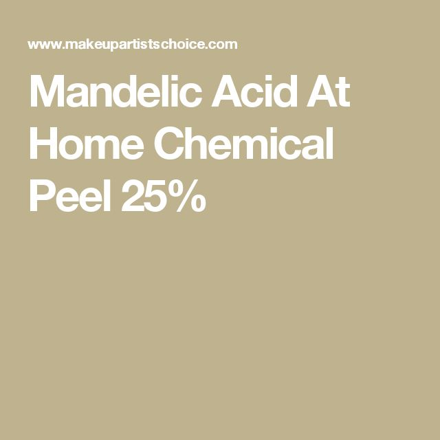 Mandelic Acid At Home Chemical Peel 25%