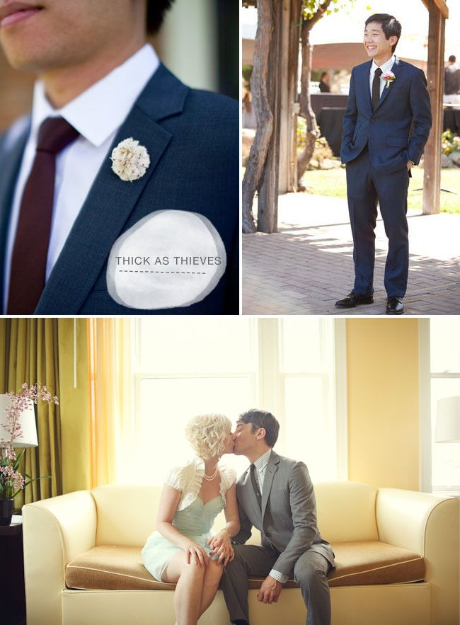 groom-fashion-thick-as-thieves: Grooms Outfits, Grooms Suits, Blue Tux, Blue Suits, Fashion Guide, Suits Ideas, Bridal Fashion, Awesome Colour, Grooms Fashion