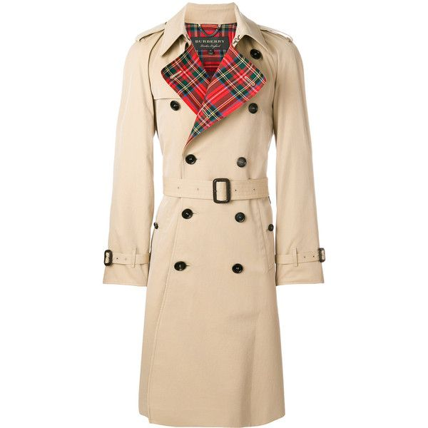 Burberry long trench coat (8.745 BRL) ❤ liked on Polyvore featuring men's fashion, men's clothing, men's outerwear, men's coats, burberry mens coat, mens double breasted coat, mens long trench coat, mens long coat and mens double breasted trench coat