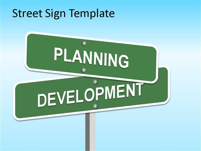 Street Sign Powerpoint Template for Marketing PowerPoint ...