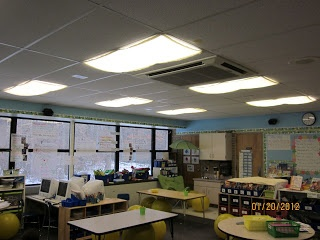 New Adventures in First Grade: Mood lighting... for learning! -- I want these!!