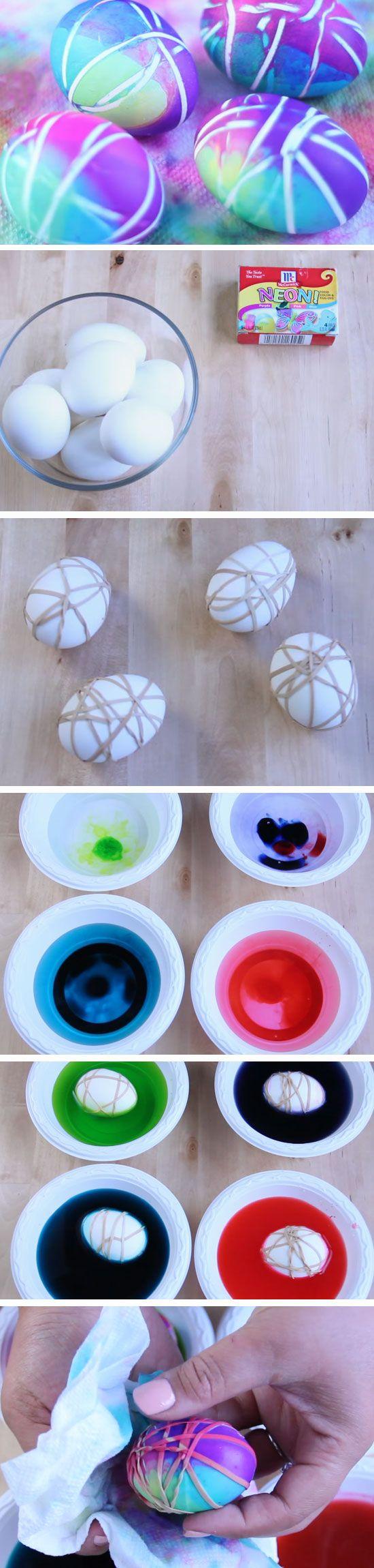 Blue   Purple | DIY Easter Egg Decorating Ideas for Kids | Easy Easter Egg Crafts for Kids